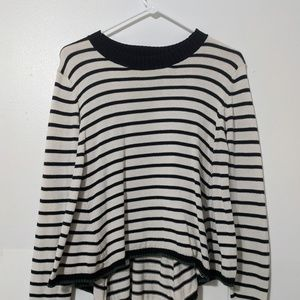 Knit Black and White Stipe Sweater